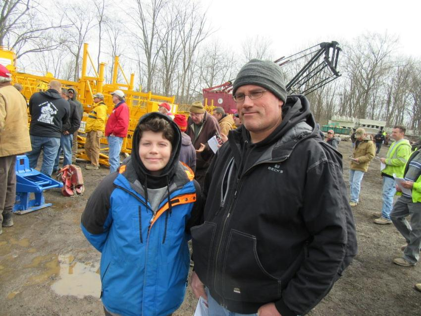 Father and son team Jack and Chad Senghas of Senghas Construction hoped to take home some equipment.