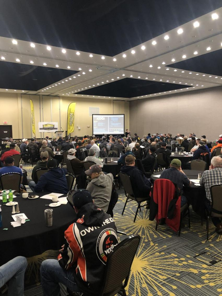 About 200 paving professionals participated in Swanston Equipment's 31st Asphalt Paving and Compaction Seminar March 13.