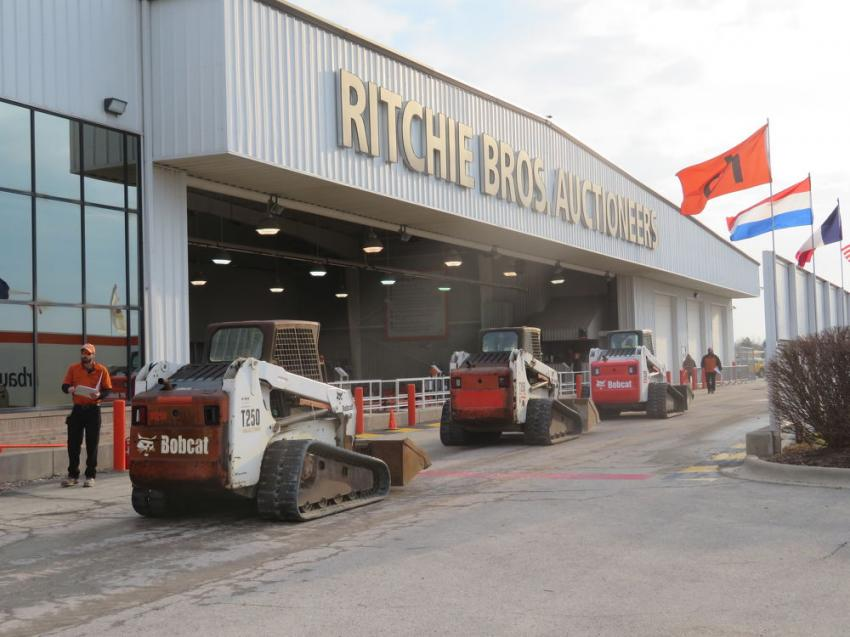 There were plenty of skid steers to bid on at the March 28 sale.