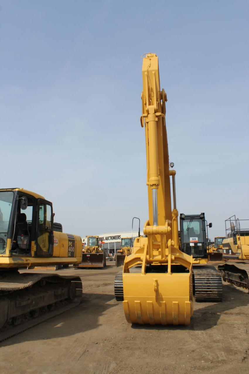 Cat excavators were a big draw at the auction.
