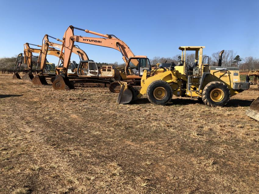 Case, Hyundai and Samsung excavators were sold to a contractor in Alabama.