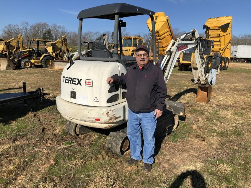 Bruce Tunnell of AEI Equipment in Rich Creek, Va., needed a compact excavator for a customer. After looking at several, he planned to bid on a Terex machine.