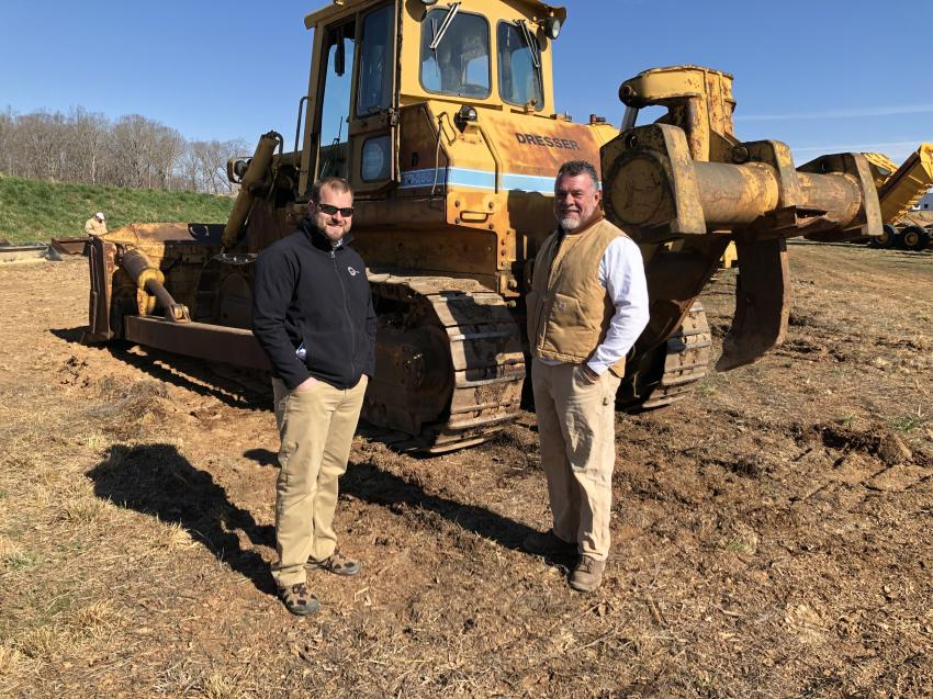 A Dresser TD25 dozer caught the attention of Michael Wetter (L) of Nest Homes in Mooresville, N.C., and Chip Bridges of CBC Stone & Recycling in Mooresville, N.C.