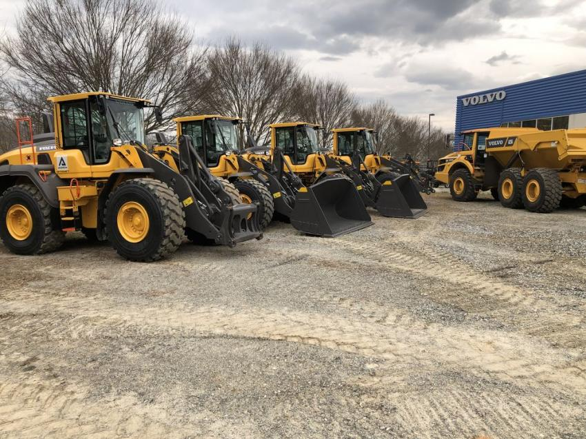 Ascendum Machinery had a variety of Volvo machines on hand including wheel loaders and artic trucks.