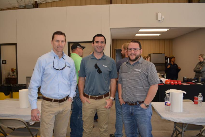 (L-R): Darren Tillman, CFO of both Vermeer Texas-Louisiana and Bobcat of Waco's parent company, Compact Construction Equipment LLC, along with Ryan Connor, account manager of Bobcat Company, and Justin Harper, sales manager of CCE.