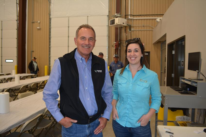 Mark Unzicker, Vermeer Texas-Louisiana region 1 sales manager, caught up with Allie Jadwin, territory sales manager of Digital Control Inc. Digital Control designs and manufacturers locating systems for horizontal drills.