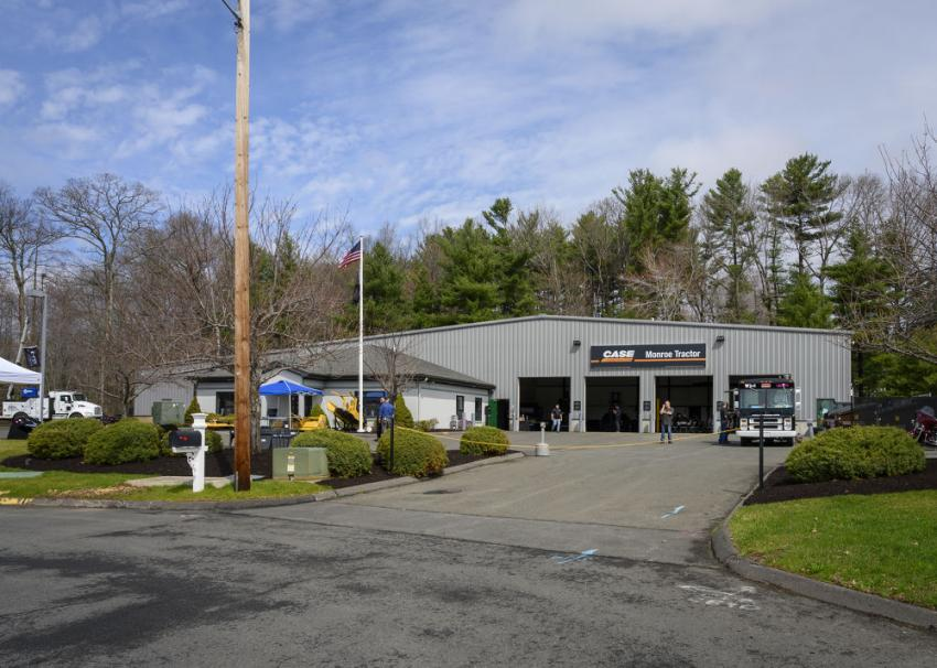 Monroe Tractor's four-bay, 12,500-sq.-ft. facility located at 6 Sandra Drive in South Windsor, Conn.