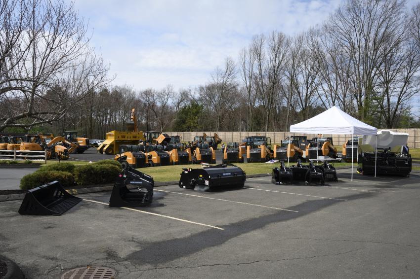 Monroe Tractor in South Windsor, Conn., is located on a two-acre lot stocked with various Case machinery.