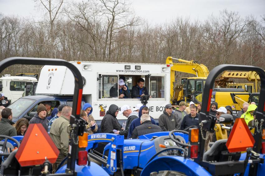 The Alex Lyon & Son auction in North Attleborough, Mass., featured a wide array of equipment.