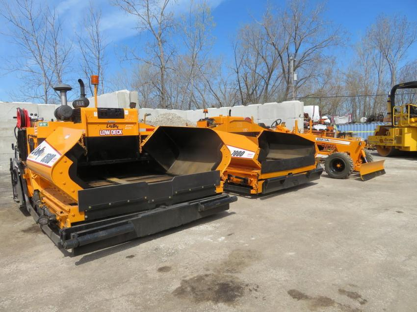 A pair of LeeBoy pavers and a LeeBoy 635 motorgrader were among the highlights of the auction.