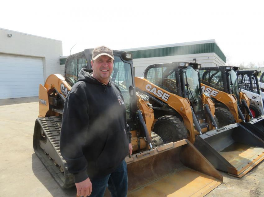 Carl Bowers of Carl Bowers & Sons Construction likes what he sees in a line of well-maintained skid steers.