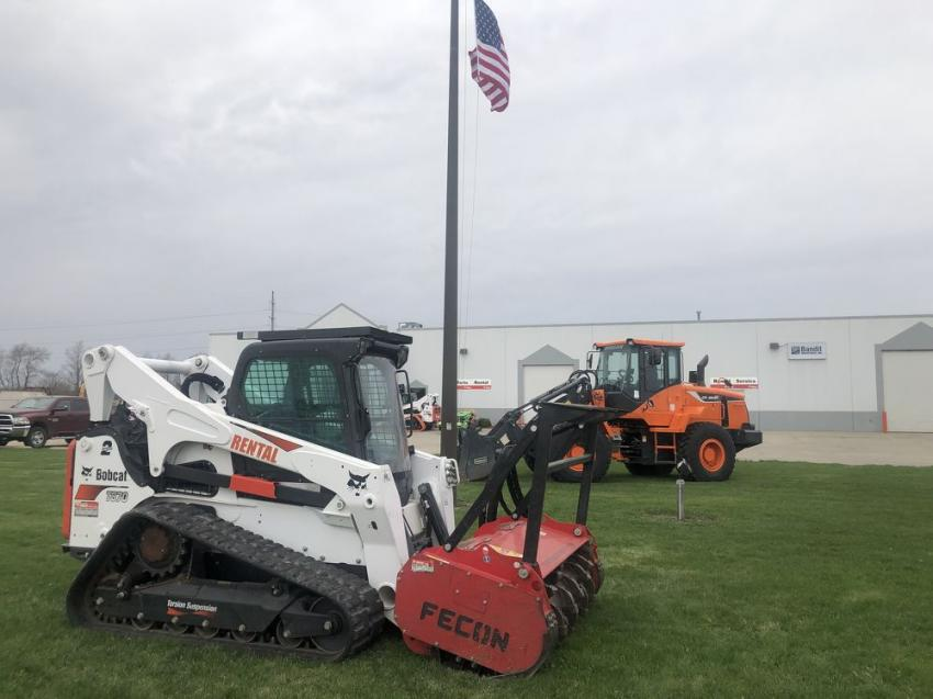 Bobcat of Springfield's lineup of products was on display during the open house.