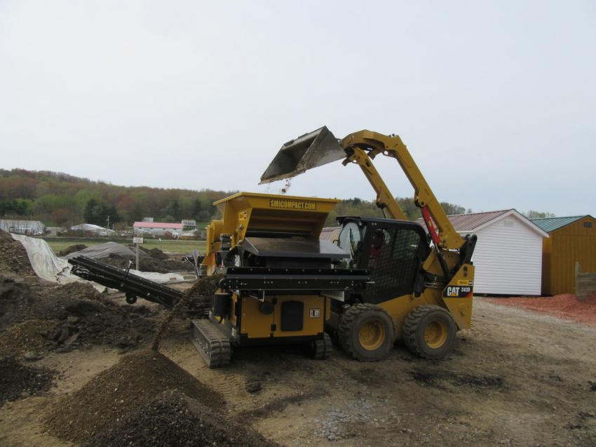 The unit's compact size makes it easy to load with a skid steer or excavator.