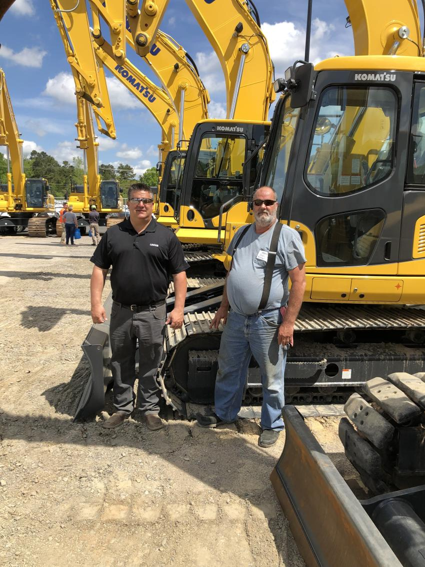 Talking Excavators are David Vendemia (L) of Linder and Donald Prater of Property Service Group in Concord, N.C.
