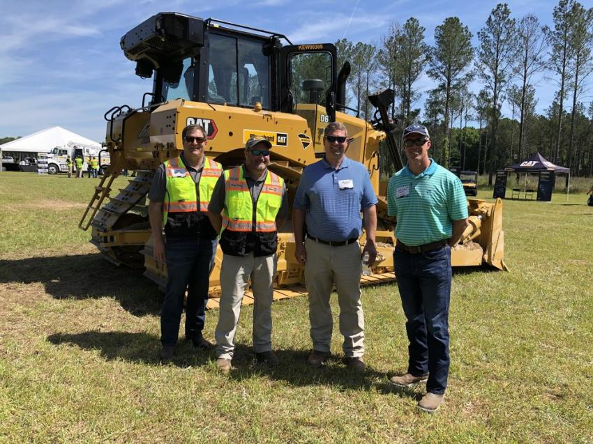 (L-R): Joel Reynolds and Brian Smith of Blanchard Machinery meet with Jason Wilkie and Jonathan Hornick of J.C. Wilkie Construction in Lexington, N.C.