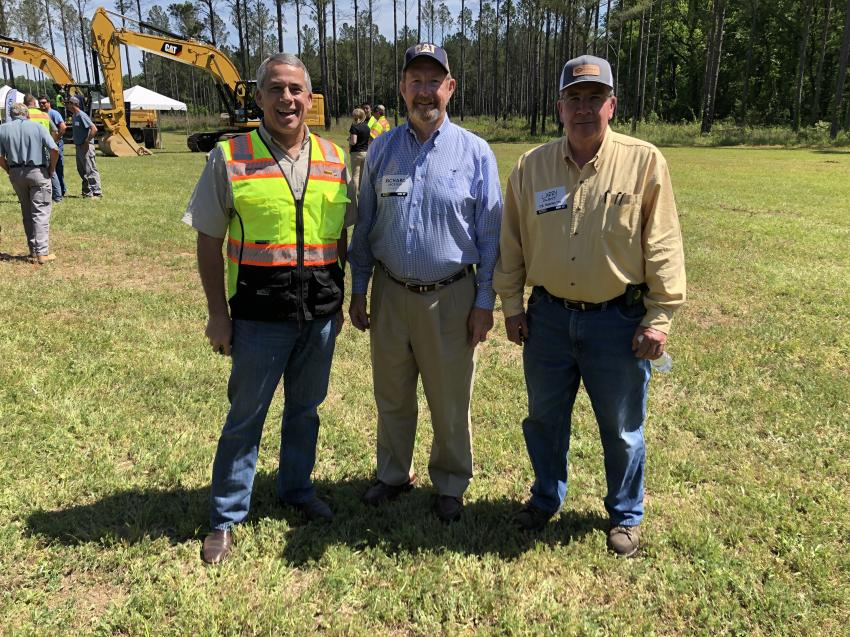 (L-R): Harry Hurley, Blanchard Machinery, gets together with Richard Jackson and Larry Owens of C.R. Jackson Inc. in Columbia, S.C.