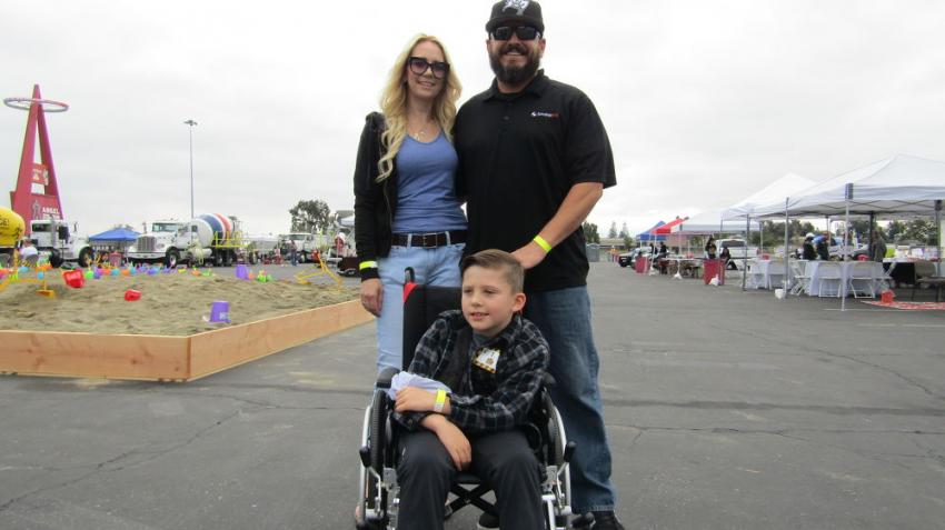 Melissa and Brandon Davies of Orange County brought their eight-year-old son, Jack, to the event to experience the equipment up close.