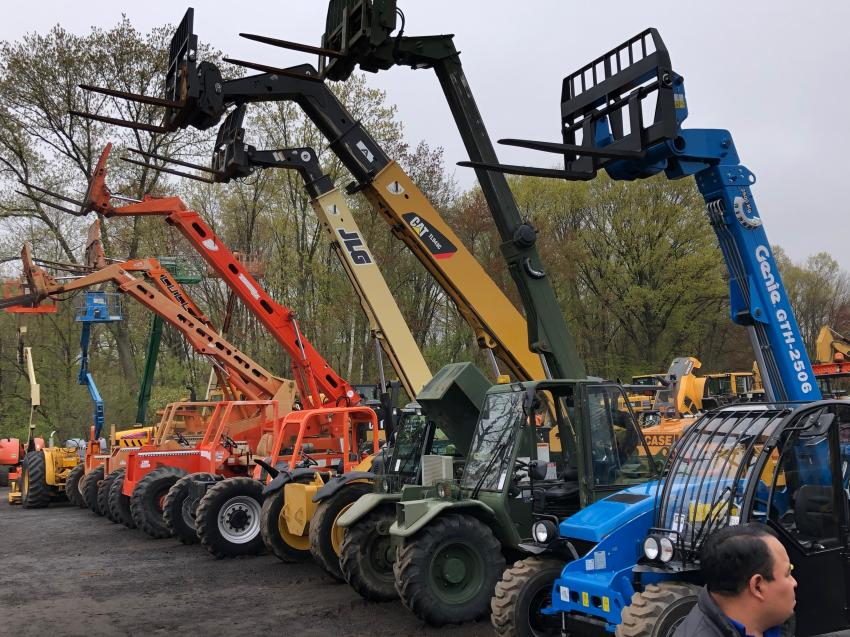 With the building demand high in the New England market, good used telehandlers are in high demand.