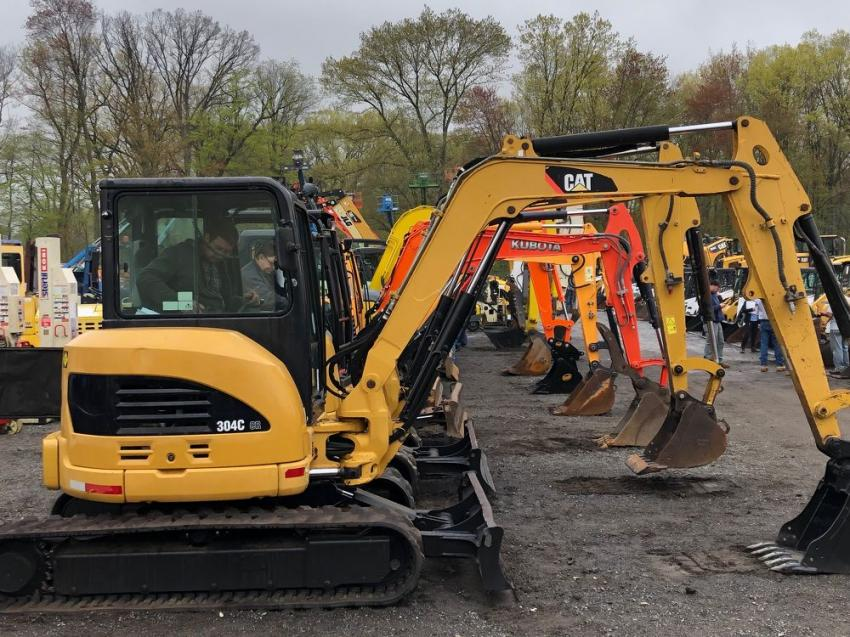 Mini-excavators of every make and color sold to the highest bidder with nearly 2,000 buyers competing.