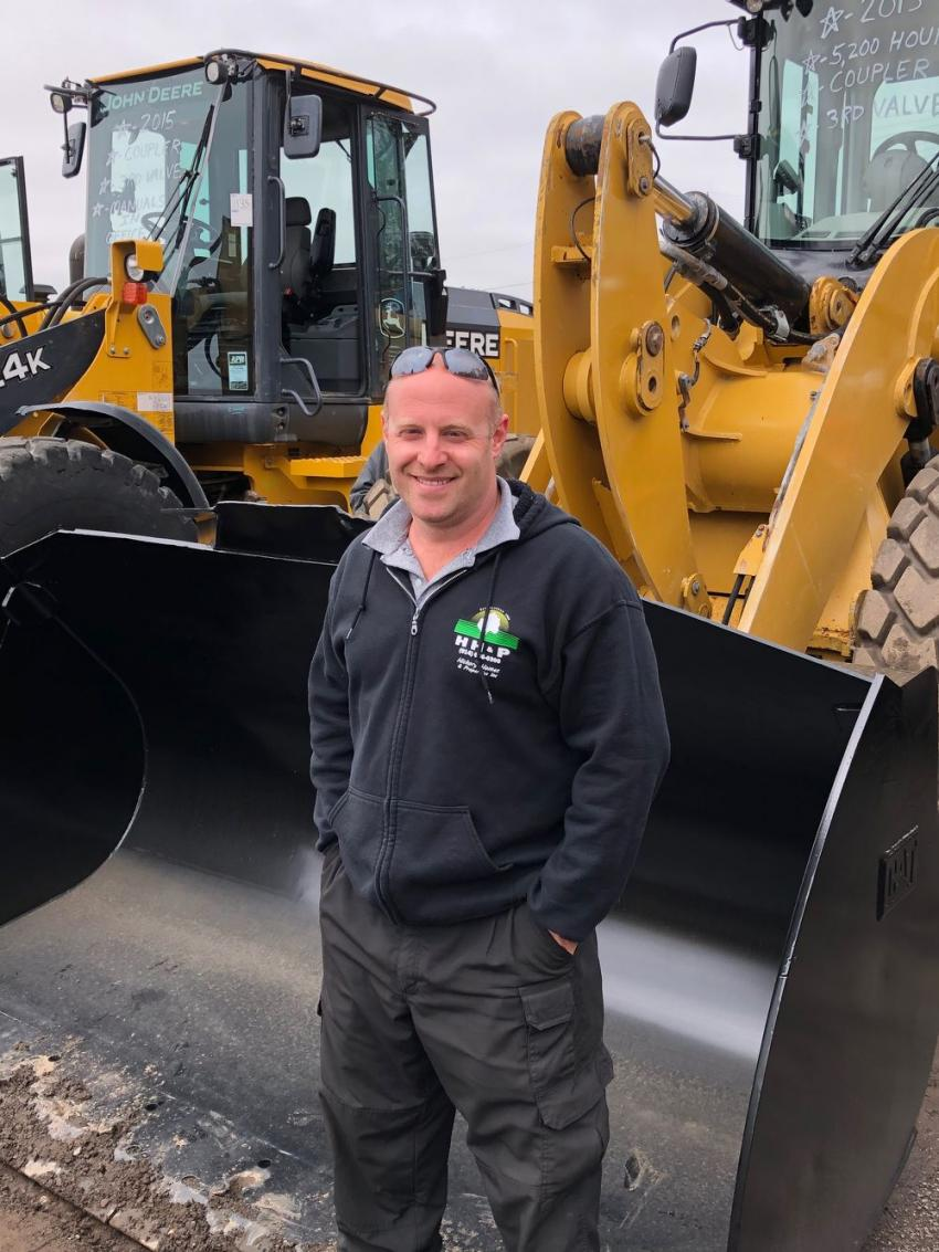 Michael Galley of Hickory Homes and Properties in Mount Kisco, N.Y., is looking to add a loader to his fleet for his wood recycling business.