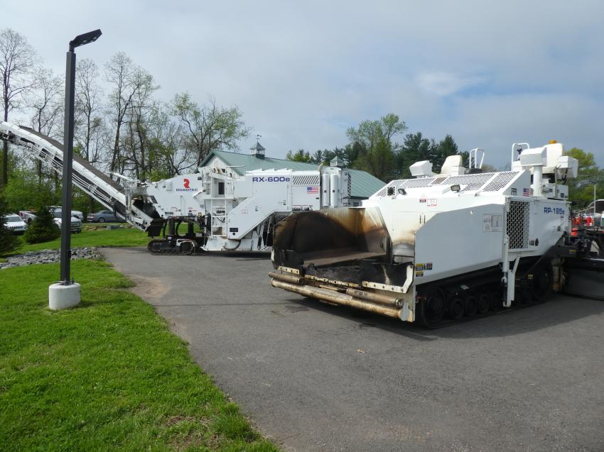 A Roadtec RX-600 milling machine and a Roadtec RP-195E asphalt paver, both late-model and low-hour machines, were the featured pieces at the recent Hunyady auction sale held for Hale Built in Flemington, N.J.