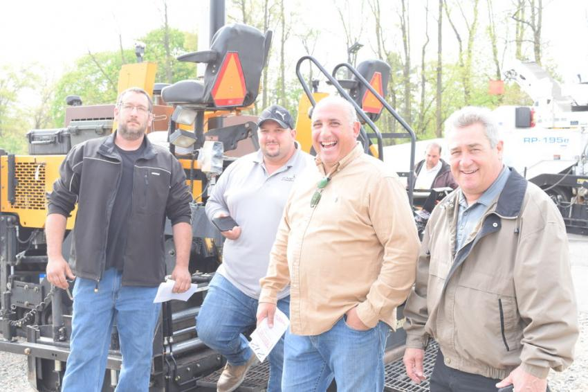 (L-R): Michael Oswald, head technician of GMP Contracting; Anthony Caruso, owner of AC Concrete; Joe Porchetta, owner of GMP Contracting; and Rick England, sales representative of JESCO, all from South Plainfield, N.J.