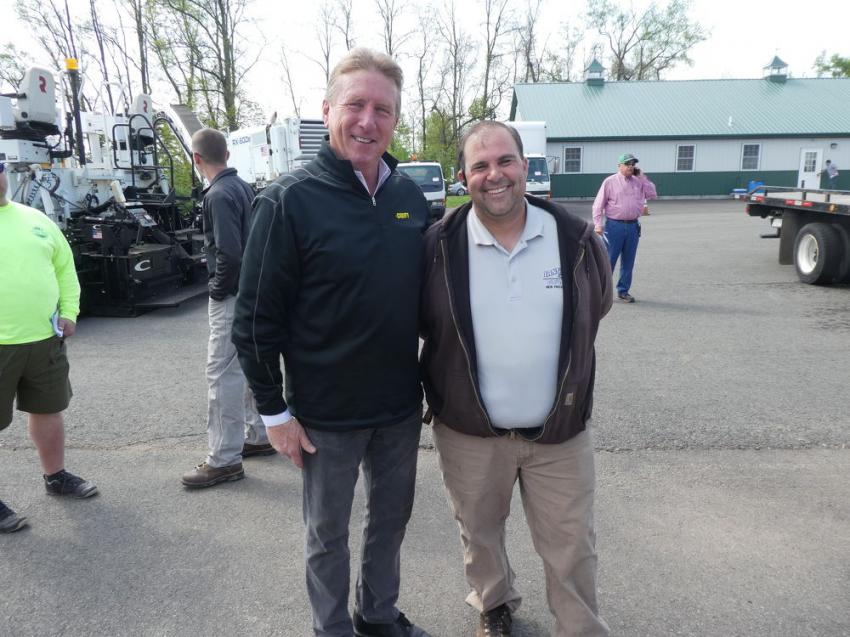 Sean Collins (L), senior vice president, Groff Tractor Holdings Company, and Gabe Iannella, Iannella General Contracting, New Providence, N.J.