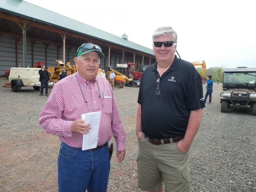 Making their way from Wichita, Kan., and Windsor, Colo., were Check Fincham (L), president, Fincham Equipment, and Mark Pentz, Calvin Group Inc.