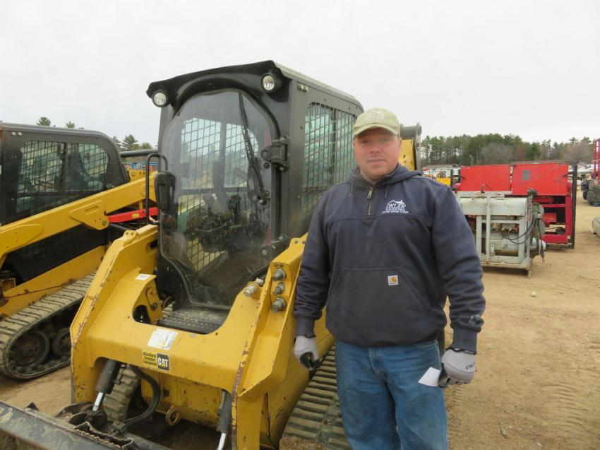 There were plenty of track skid steers at the annual two-day Spring Auction, and Ryan Okler came to see if he could take one home.