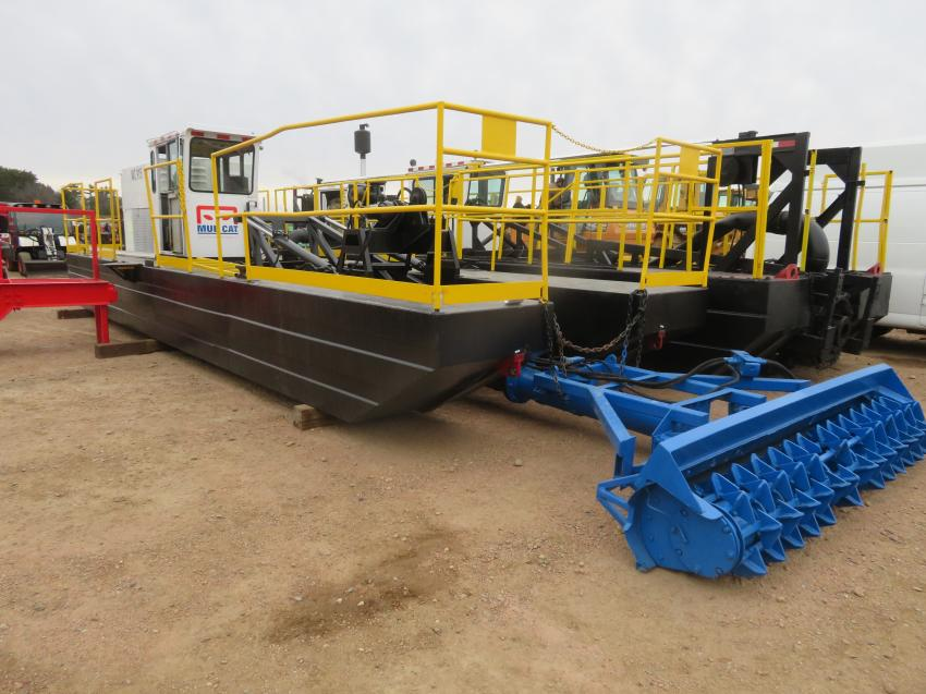 The annual two-day auction had something for everyone at the sale, including a Mudcat dredge.