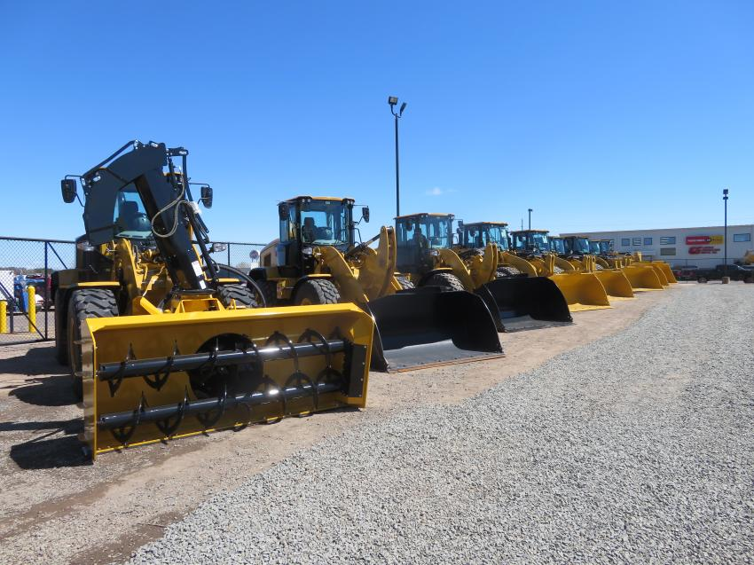 Customers got to see a Cat wheel loader lineup with a variety of attachments.