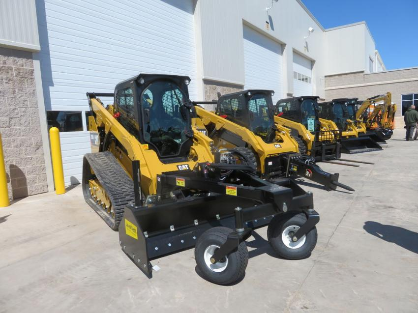Fabick Cat displayed a wide variety of track skid steers with the many attachments that Caterpillar offers.