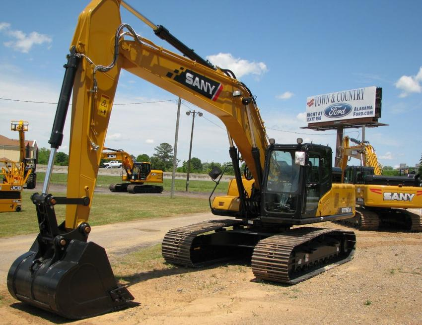Both SANY full-sized and mini-excavators were on display and available for attendees to get some operating time if they chose to.