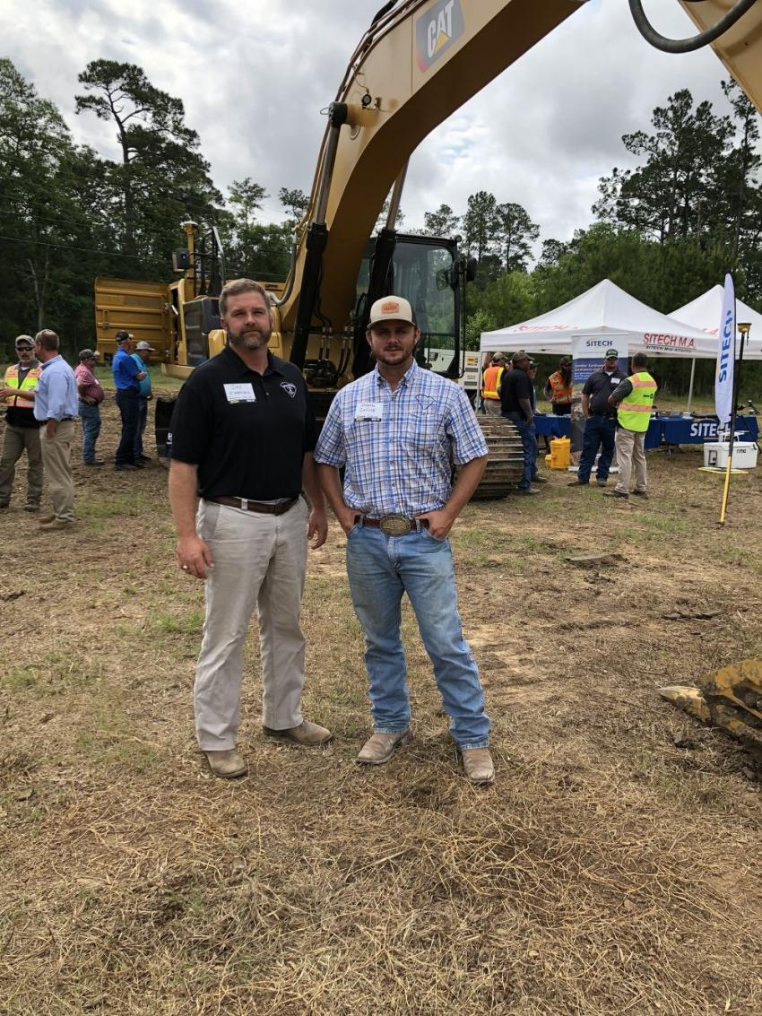 Dee Alessandro and Shank Collins of Robert Collins Company in Barnwell, S.C.  They currently run 12 Cat 336 excavators and four of them are the new Next Generation models.