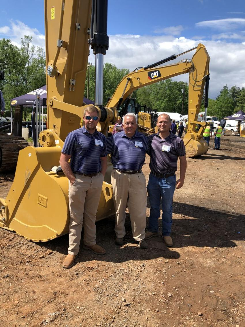 From the left are Jordan John and Jimmy and Neil Martin – all of Martin Brothers Construction Company in Gray Court, S.C.