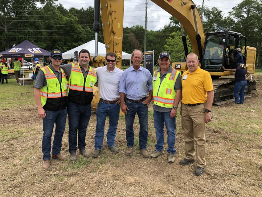 Shown from the left are Boyd and Rozier Blanchard, Clark and Trey Banks (Banks Construction in Charleston), Joe Blanchard and Cat's Troy Arrington.