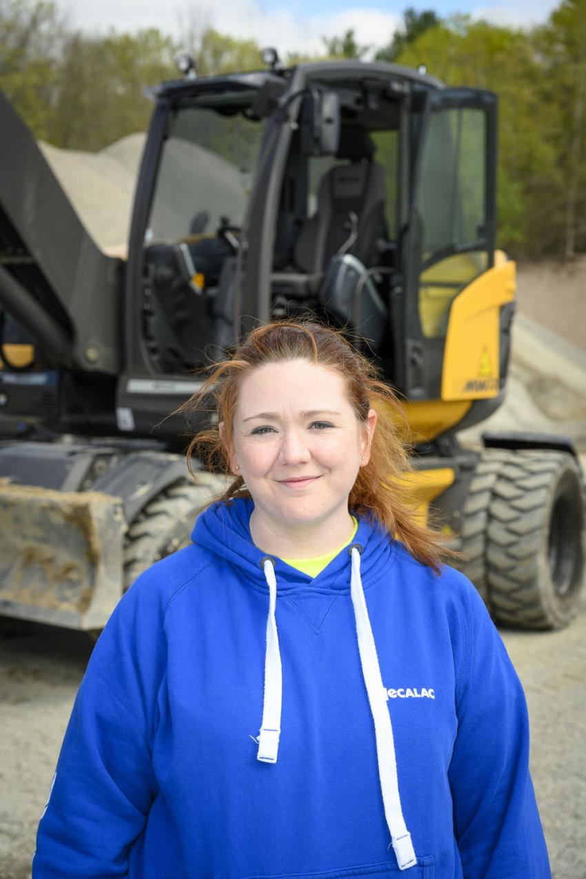 Samantha Marchand, Lorusso Heavy Equipment's office manager in Walpole, Mass., was present at the Demo Day to assist and answer questions. Marchand has been Lorusso's office manager for four years.