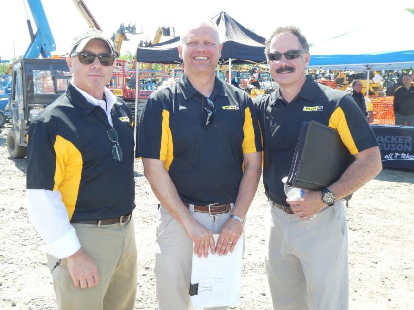 (L-R) are Michael Evan, account manager, Foley Inc.; Brian Staley, Foley Rents; and Marty Lindmeier, account manager, Foley Inc.