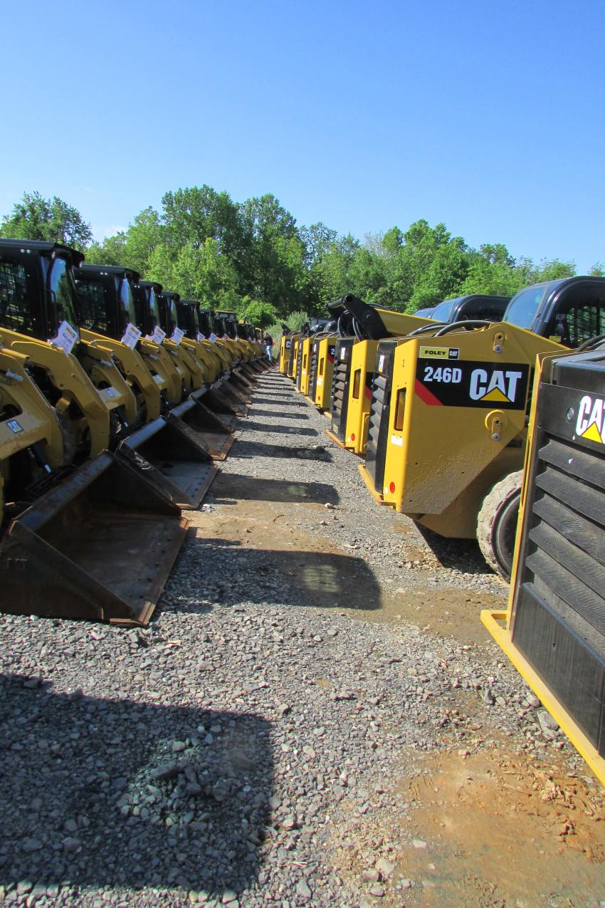 That's a lot of skid steers available at special pricing.