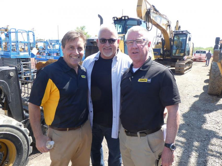 (L-R): Pat Togno, account manager; and Rich Califano and Joe Villa, international and domestic used equipment sales and purchasing managers, all of Foley Inc., are pleased with the high turnout for the One-Day Sales Event.