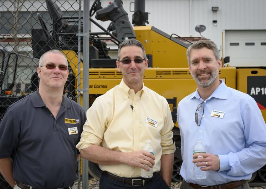 (L-R) are Bryan Nix, general manager of service, John Bellardino, vice president of product support, and Rob Cleveland, CEO of H.O. Penn.