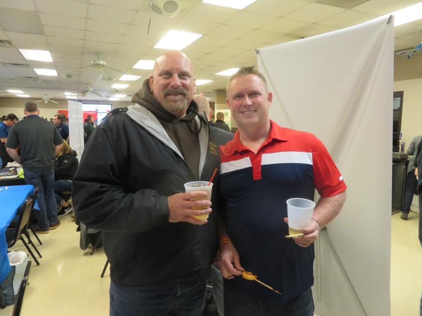 Bob Dehm (L), general manager of Baish Excavating Inc., and Norm Beasley of Ozinga Ready Mix.