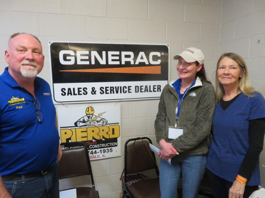 (L-R) are Paul Rolih, Tammy French and Marsha Rolih, all of Pierro Electrical Construction, Rockdale, Ill.