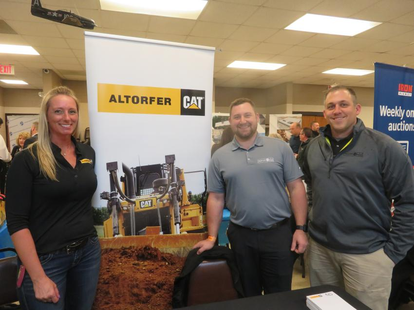 (L-R): Danie Kendall, Bob Czarnowski and Danny Motch represent Altorfer Cat at the event.