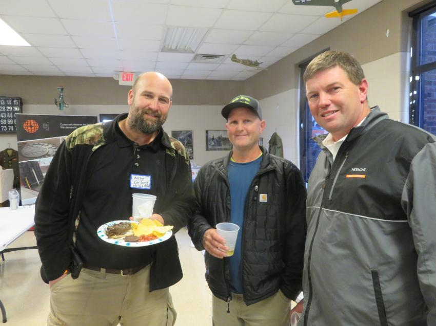 (L-R) are Mike DeJong of Welsch Ready-Mix, John Stipanovich of Stip Brothers Excavating Inc., and Nick Stipanovich of Illinois Truck & Equipment Co.