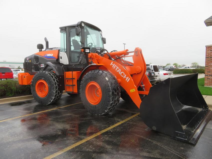 Illinois Truck & Equipment Co. brought a Hitachi ZW180 wheel loader to display.