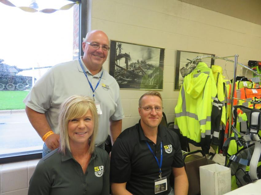 The team representing 5R Enterprises (L-R) are Julie Tarter, Owner Chad Cailteaux and Nick Klein.