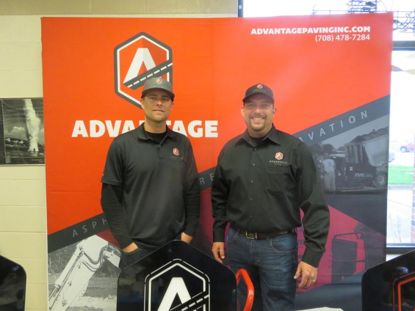 Advantage Paving Inc. representatives Jeff Swanson (L) and Steve Marr were ready to answer questions.