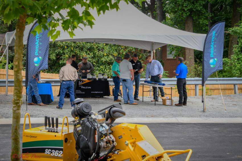 A number of vendors were on hand with product displays and demonstrations at Vermeer Southeast's grand opening event on May 3.