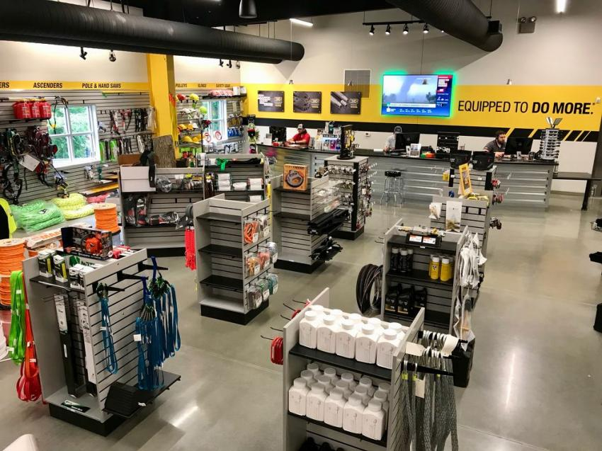 The new 6,000 sq.-ft. parts showroom in all its glory.